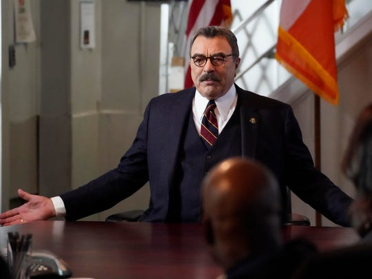 """This image released by CBS shows Tom Selleck in a scene from """"Blue Bloods."""" TV viewers craving familiarity will find it on CBS, which is renewing nearly two-dozen including newcomers """"The Unicorn"""" and """"All Rise"""" and stalwarts """"Blue Bloods"""" and """"The Amazing Race."""""""