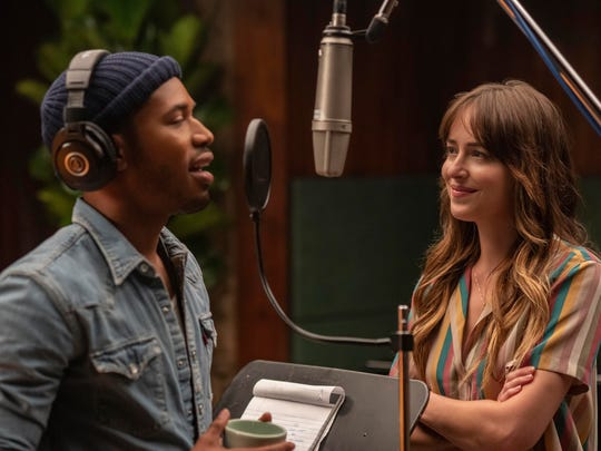 "Kelvin Harrison Jr., left, and Dakota Johnson in ""The High Note."""