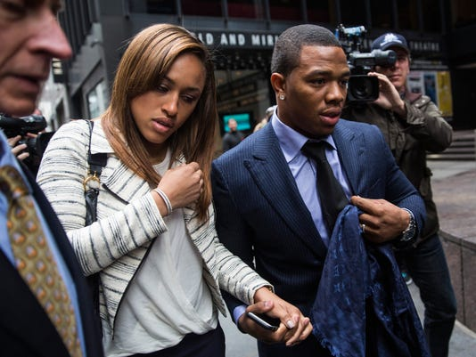 Suspended Baltimore Ravens Ray Rice Attends Appeas Hearing In New York