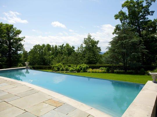 The infinity pool has mountain views.