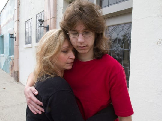 Parker Drake, 19, a special-needs student from Howell, and his mother, Christine Marshall. Drake allegedly was bribed by two men into jumping into the ocean off the inlet jetty in Manasquan as a joke on a day when the ocean temperature was 30 degrees.