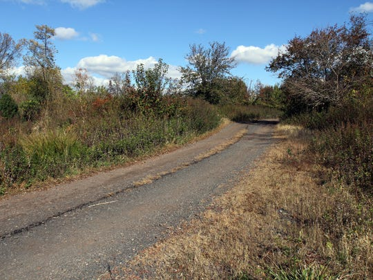 This is the Somerville landfill. It is targeted for transit village development, October 30 2014 Somerville NJ. Photo by Kathy Jonson BRI 1102 Somerville landfill