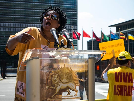 Rally Held Outside The United Nations As The UN's Mission In Iraq Is Discussed By Security Council