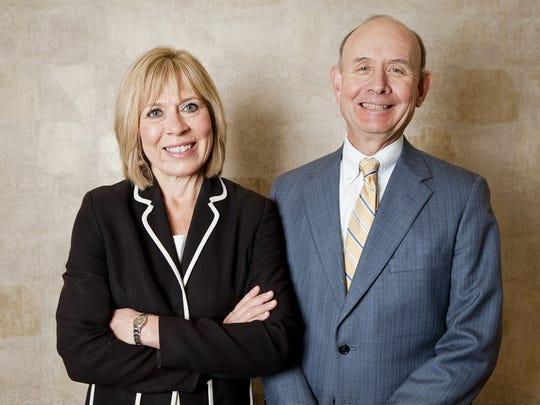 BusinessWise columnists Crystal Faulkner and Tom Cooney.