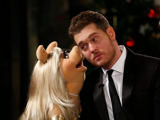 """Michael Buble will be joined by Miss Piggy for his fourth annual """"Christmas in New York"""" special, set for 8 p.m. Dec. 17 on NBC."""