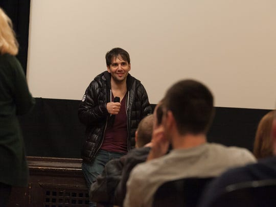 "Director David Robert Mitchell participated in a Q&A session, following the Michigan premiere of his film ""It Follows"" during the Freep Film Festival on Friday, March 20, 2015 at Cinema Detroit."