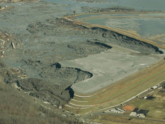 Damage from Coal Ash slurry spill