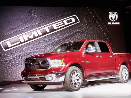 FCA US LLC's Ram brand introduces the 2015 1500 Laramie Limited Thursday in Chicago.