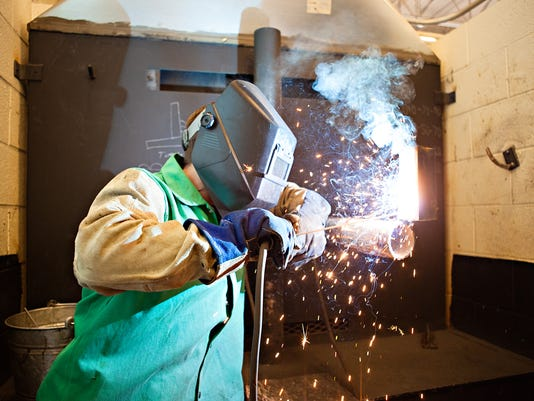Welding student at Great Falls College MSU