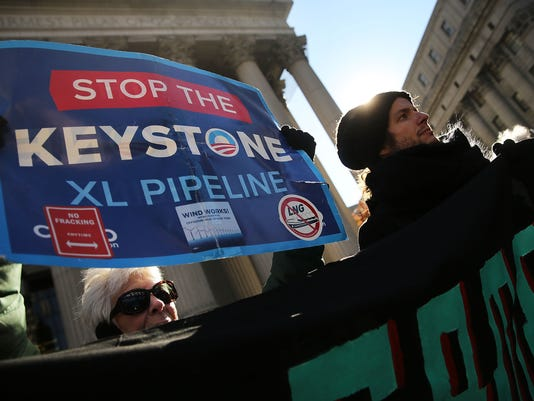 Activists In NYC Protest Against Keystone Pipeline Ahead Of Senate Vote