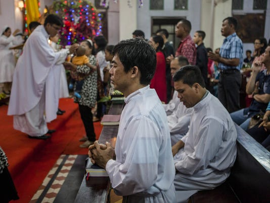 Christian Minorities Gather To Celebrate Christmas In Indonesia