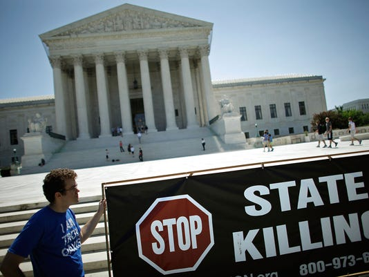 Anti-Death Penalty Activists Hold Fast And Vigil Outside Supreme Court