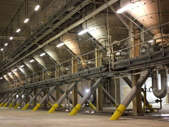 This row of steep tanks fill one of four 432,000-pound