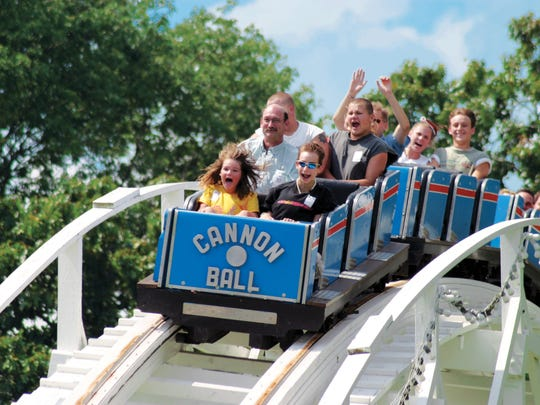 Lake Winnepesaukah Park near Chattanooga has more than 40 rides and attractions.
