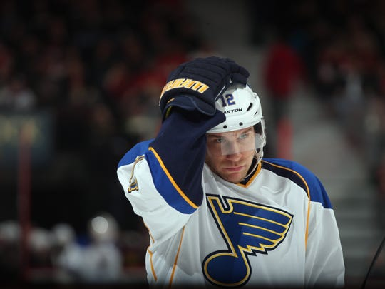 Injuries slowed Derek Roy in 2013, when he managed only 37 points in 75 games for the Blues.