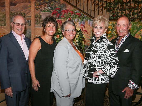 From left: Show sponsors Michael Mathews, Christine Brown, Ellen Weinstein, Barbara and Jerry Keller