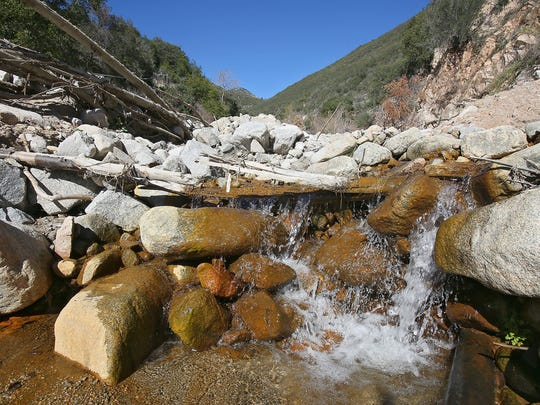 Strawberry Creek flows through the San Bernardino National Forest in the mountains north of San Bernardino. Nestle draws water from springs in the same watershed to be used for bottled water.