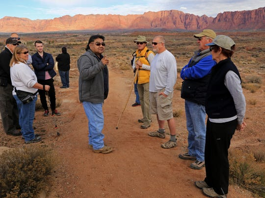 Glen Rogers of the Shivwits Band of Paiutes talks about his tribe on the Tempi'po'op Trail near Ivins.