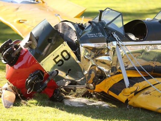 Harrison Ford makes emergency landing on a fairway near LA