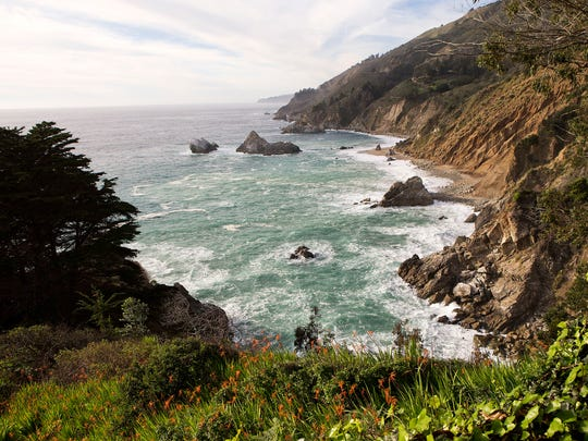 A view north along the coast on the McWay Waterfall Trail at Julia Pfeiffer Burns State Park on Tuesday, Feb. 10, 2015 in Big Sur.