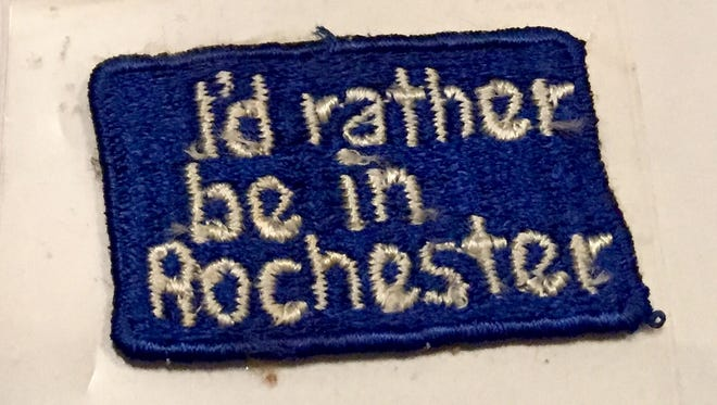 A badge shows Rochester pride, but the slogan didn't have any staying power.