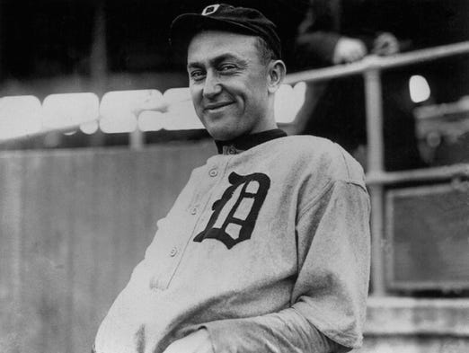 Detroit Tigers' Ty Cobb.