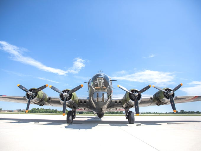 The WWII B-17 Bomber was built in Oct. 1944. This particular
