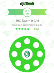 Spotluck is a mobile restaurant app where users can