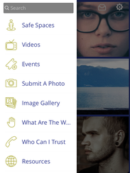 Menu bar of the #LetsTalk app