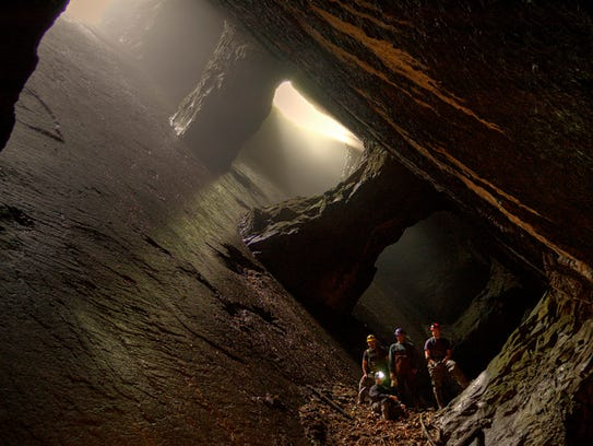 Dan Lopez and his crew explore the abandoned La Fever Falls Mine in Rosendale, N.Y.