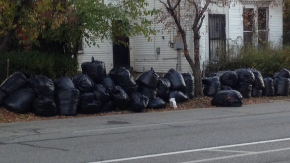 Plastic bags for yard waste were banned in Louisville.