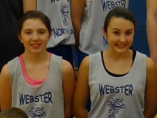 Miranda Lynch of Webster Thomas, left, and Payton Lill