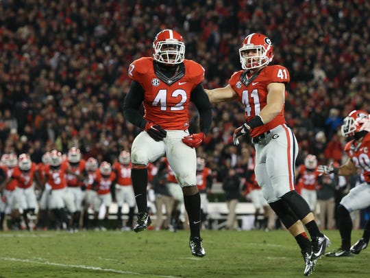 Georgia linebacker Tim Kimbrough (42)