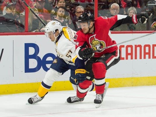 NHL: Nashville Predators at Ottawa Senators