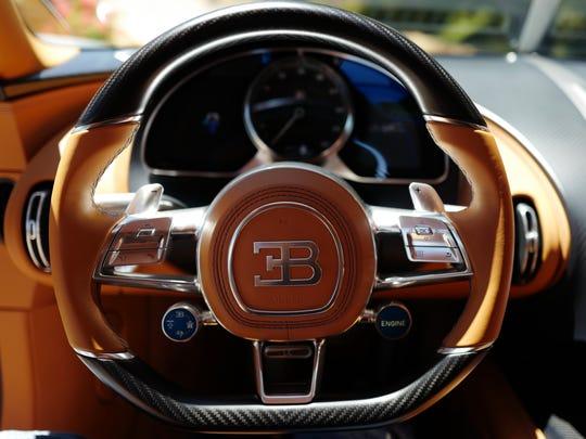 The interior of the $3 million Bugatti Chiron is a