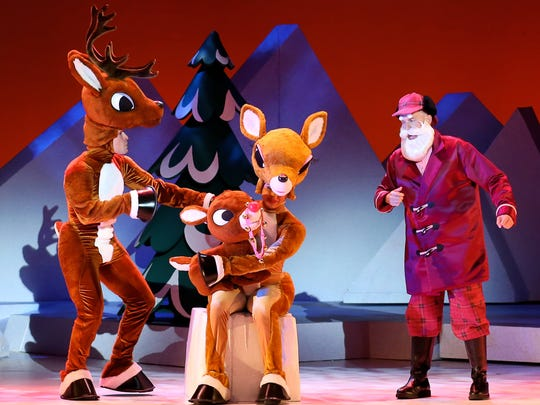 """A stage version of the classic TV special, """"Rudolph The Red Nosed Reindeer,"""" is at Madison Square Garden"""