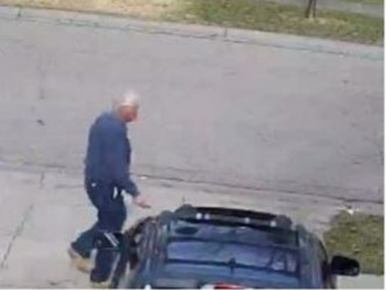 A frame from surveillance video taken in one of the