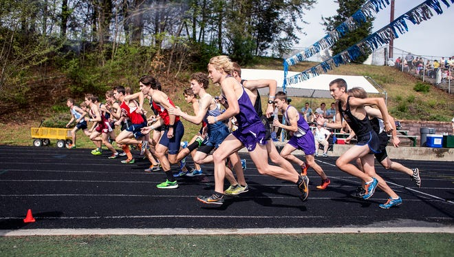 Mitchell's Zach Boone (in Lane 1 in purple).