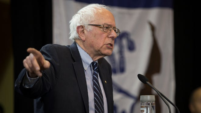Democratic presidential candidate Sen. Bernie Sanders, I-Vt., speaks during a campaign rally at the Sondheim Center, on Thursday, Jan. 28, 2016, in Fairfield, Iowa.