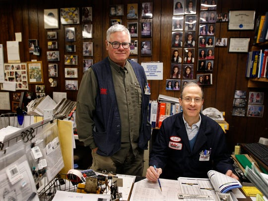 Co-workers Richard Stuckert (left) and Jack Edelstein at Crown Hardware and Plumbing Supply, 2016 N. Dr. Martin Luther King Jr. Drive