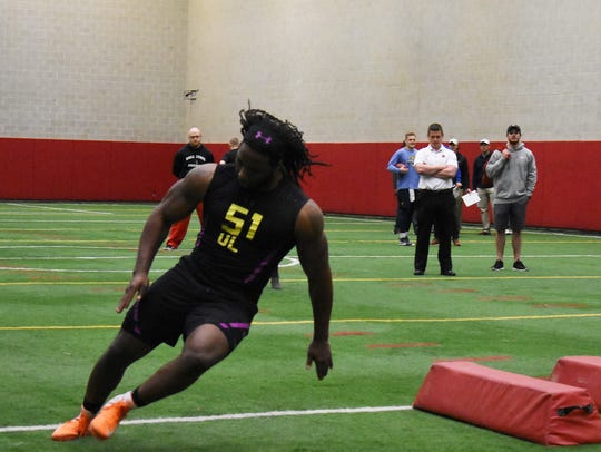 Anthony Winbush runs through workouts at Ball State's