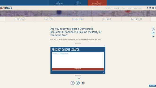 The Nevada Democrats released its Caucus Locator Tool on Wednesday.