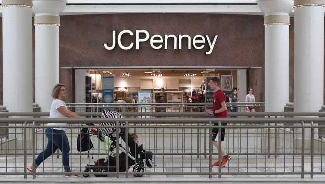 Shoppers travel in front of JCPenney at the Poughkeepsie Galleria. JCPenney is one of the stores that has been in the mall for the Galleria's 30-year existence.