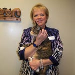 Tabitha, shown with LACASA President and CEO Bobette Schrandt, is being reunited with her family for Thanksgiving.