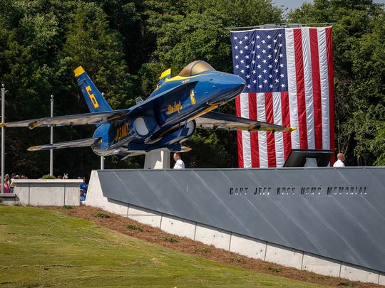 The Capt. Jeff Kuss Memorial was dedicated by the town of Smyrna on Saturday, June 9, 2018.