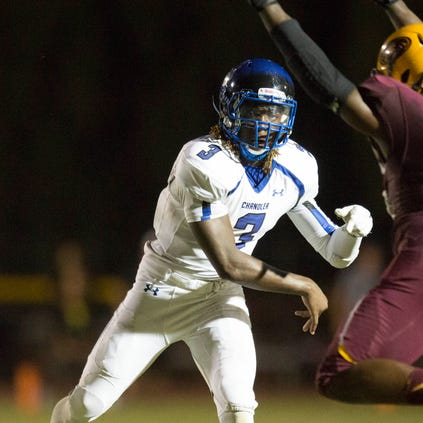 Chandler quarterback Bryce Perkins is the reason his team matches up better against Chandler Hamilton than did Mountain Pointe.