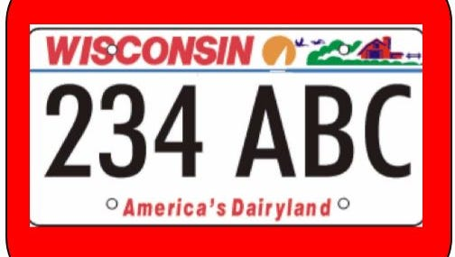 No more 'America's Dairyland' on Wisconsin license plates?