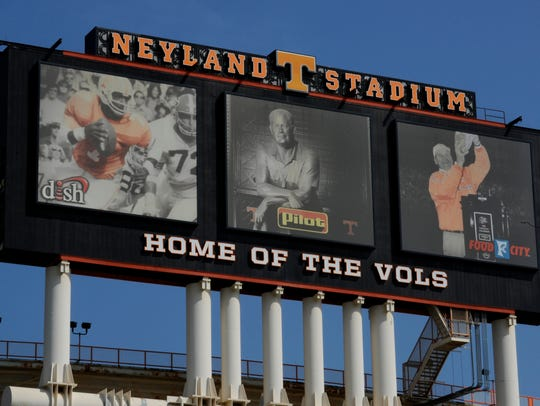 ENDplay photo of the Neyland Stadium Jumbotron at the