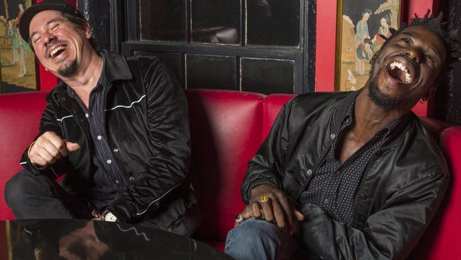 Adrian Quesada, left, and Eric Burton are Black Pumas, who received three nominations Tuesday for next year's Grammy Awards.