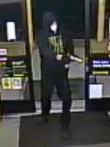 Police are searching for a man who robbed an Ellendale-area Dollar General store at gunpoint Sunday night.